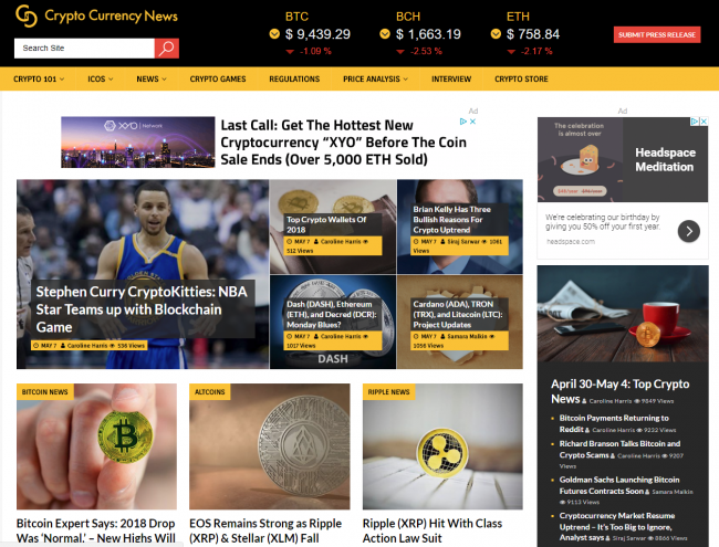 top ten crypto websites cryptocurrency news